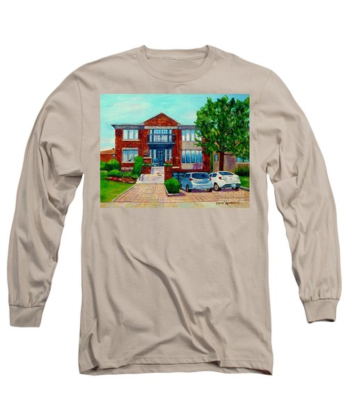 House Portrait-house  Art-commissioned  Montreal Paintings-carole Spandau Long Sleeve T-Shirt