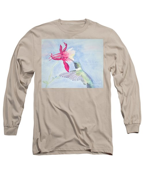 Hummingbird And Columbine Long Sleeve T-Shirt