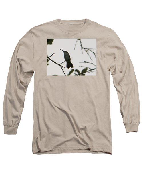 Hummingbird Silhouette 2 Long Sleeve T-Shirt by Joy Hardee