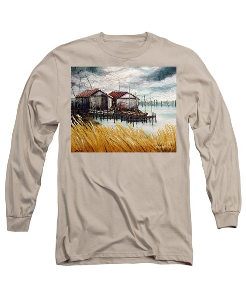 Huts By The Shore Long Sleeve T-Shirt