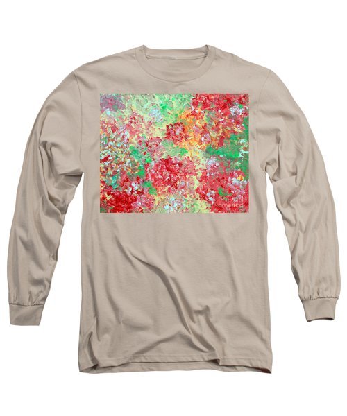 Long Sleeve T-Shirt featuring the painting Hydrangeas II by Alys Caviness-Gober