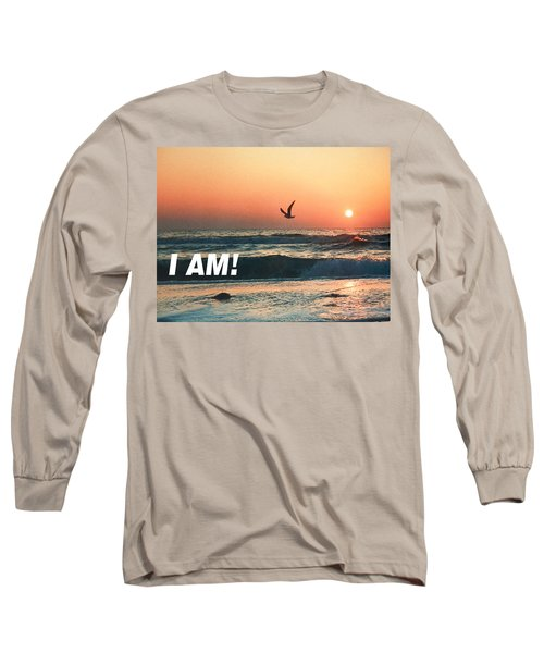The Great I Am  Long Sleeve T-Shirt by Belinda Lee