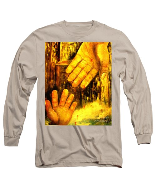 Long Sleeve T-Shirt featuring the painting I Chose You by Hazel Holland