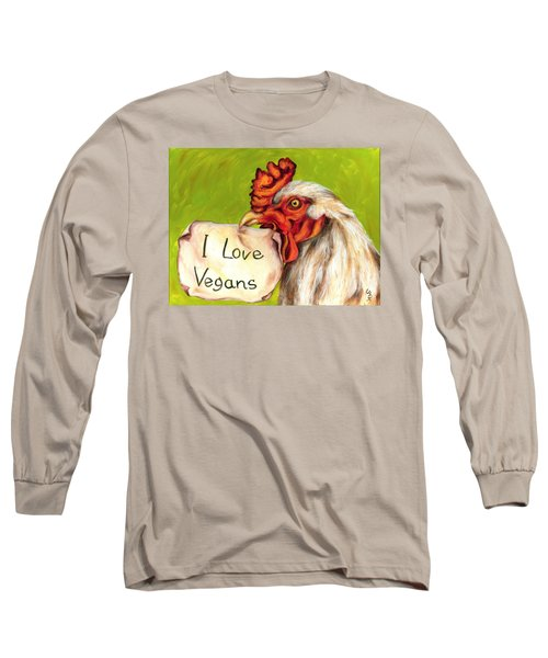 Long Sleeve T-Shirt featuring the painting I Love Vegans by Hiroko Sakai