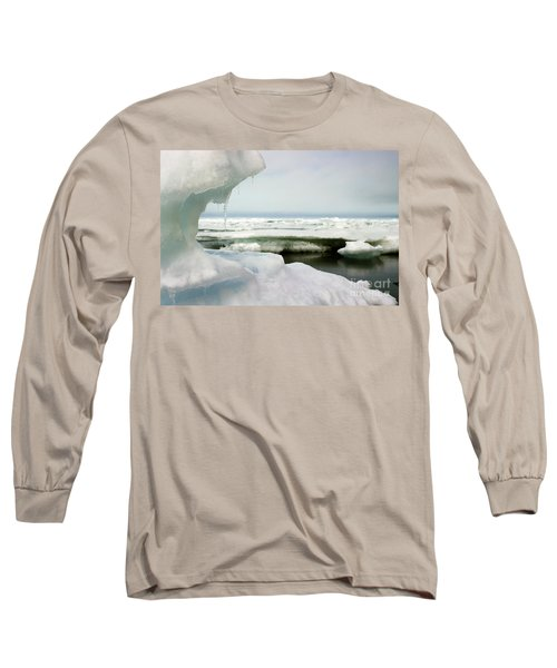 Long Sleeve T-Shirt featuring the photograph Ice Barrow Alaska July 1969 By Mr. Pat Hathaway by California Views Mr Pat Hathaway Archives