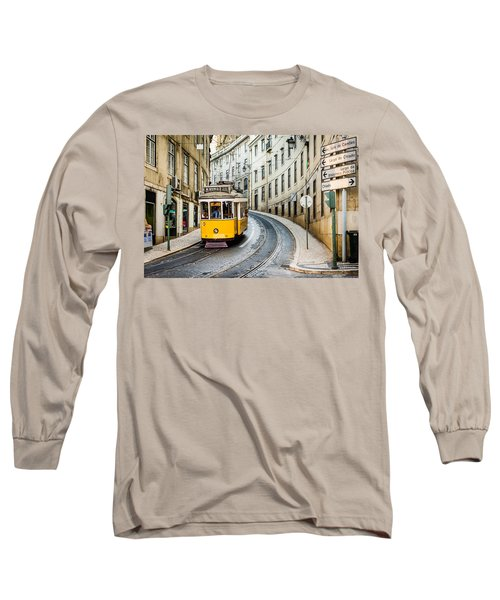 Iconic Lisbon Streetcar No. 28 IIi Long Sleeve T-Shirt