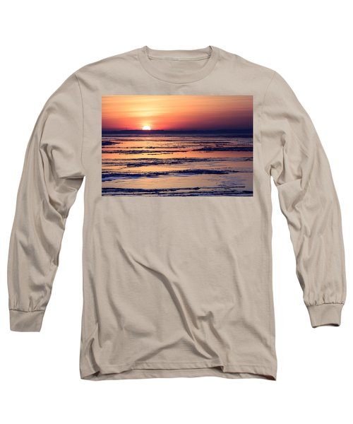 Long Sleeve T-Shirt featuring the photograph Icy Sunrise by Jennifer Casey