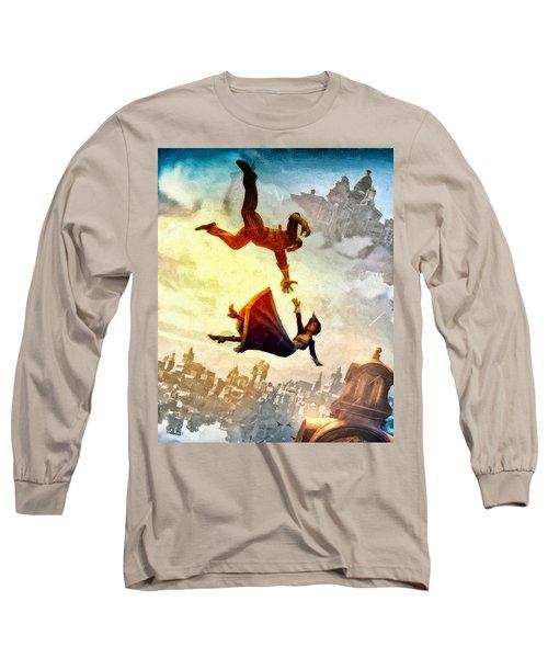 If You Fall Long Sleeve T-Shirt by Joe Misrasi