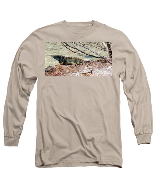 Long Sleeve T-Shirt featuring the photograph Iguana Iguana by Amar Sheow