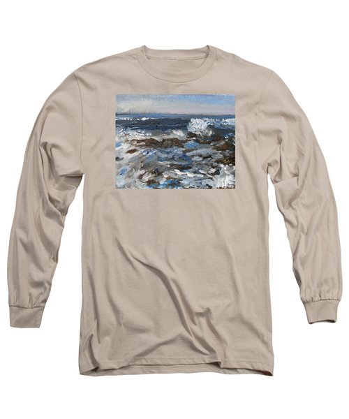 I'll Have A Water On The Rocks Please Long Sleeve T-Shirt by Michael Helfen