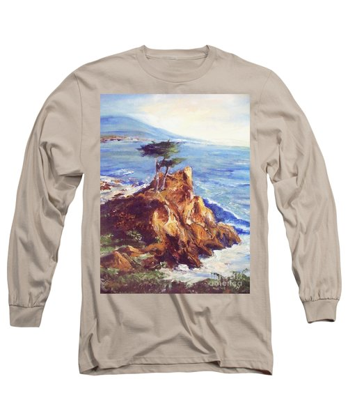 Long Sleeve T-Shirt featuring the painting Imaginary Cypress by Eric  Schiabor