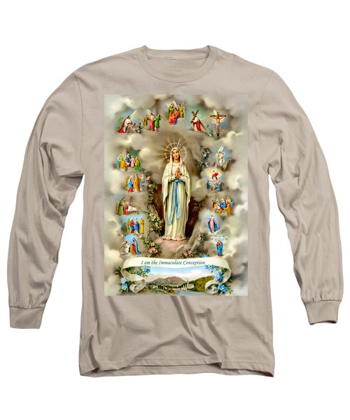 Immaculate Conception Long Sleeve T-Shirt by Munir Alawi