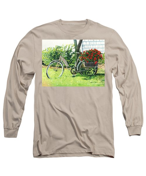 Impatiens To Ride Long Sleeve T-Shirt by LeAnne Sowa