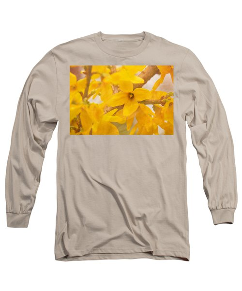 Impressionist Forsythia Long Sleeve T-Shirt
