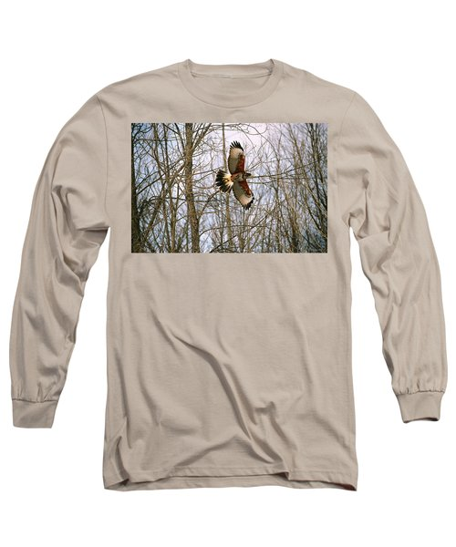 In Flight Long Sleeve T-Shirt by David Porteus