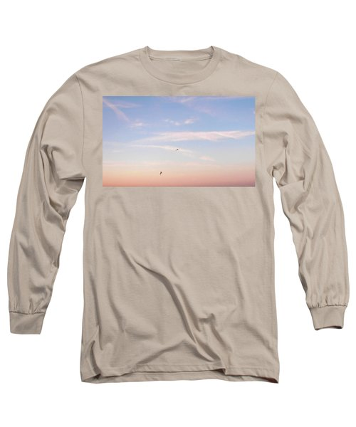 Long Sleeve T-Shirt featuring the photograph In Flight Over Rehoboth Bay by Pamela Hyde Wilson