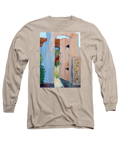 In Old Mesilla Nm Long Sleeve T-Shirt by Susan Woodward