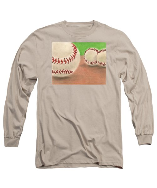 Long Sleeve T-Shirt featuring the drawing In The Dirt by Troy Levesque