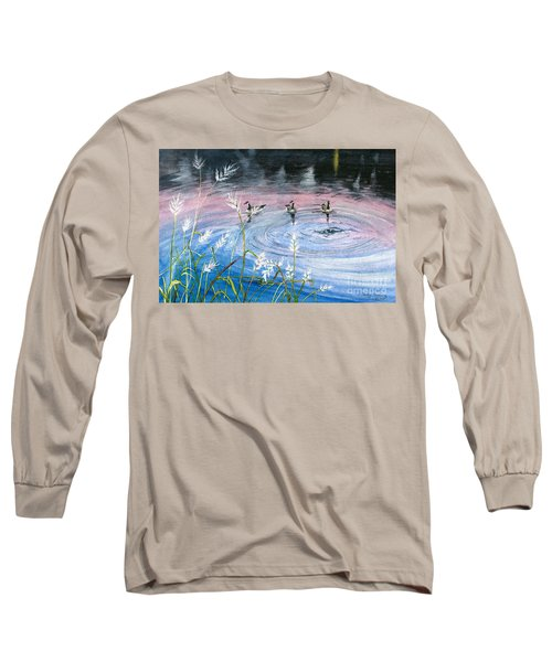 Long Sleeve T-Shirt featuring the painting In The Dusk by Melly Terpening
