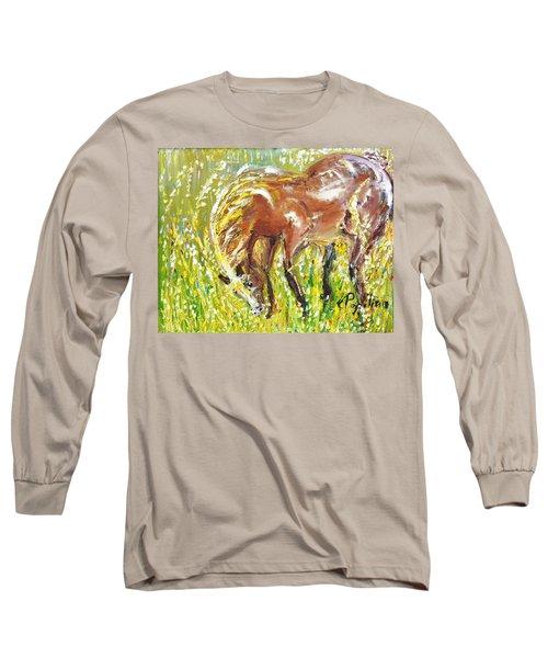 In The Field Long Sleeve T-Shirt by Evelina Popilian