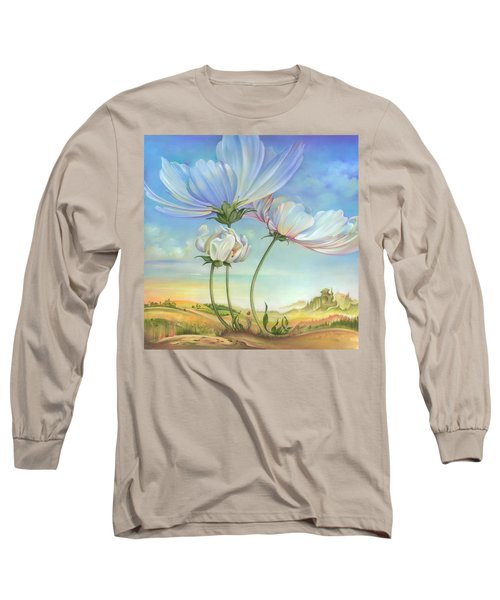In The Half-shadow Of Wild Flowers Long Sleeve T-Shirt
