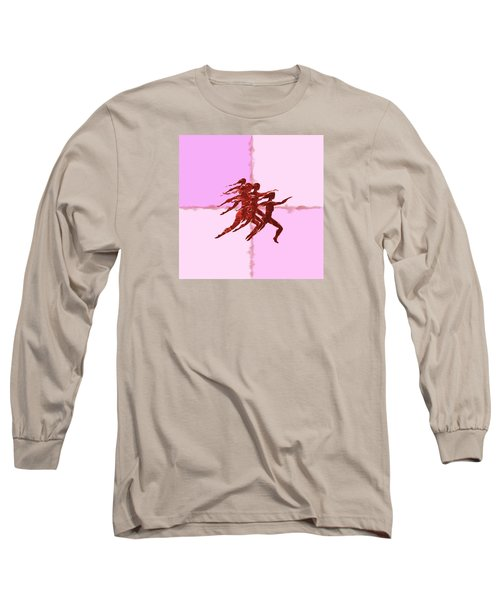 Long Sleeve T-Shirt featuring the digital art In The Pink by Mary Armstrong
