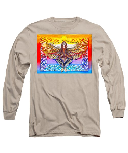 In The Shadow Of Thy Wings Psalms Long Sleeve T-Shirt