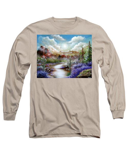 Long Sleeve T-Shirt featuring the painting Indian Gin And Whiskey Dry by Patrice Torrillo