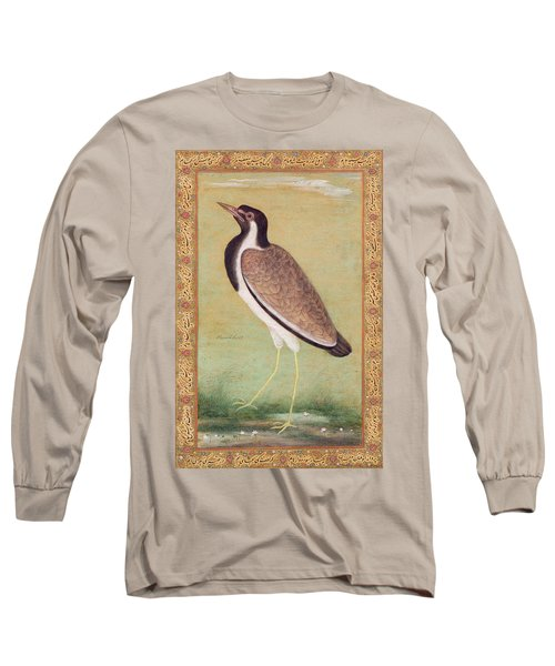 Indian Lapwing Long Sleeve T-Shirt by Mansur