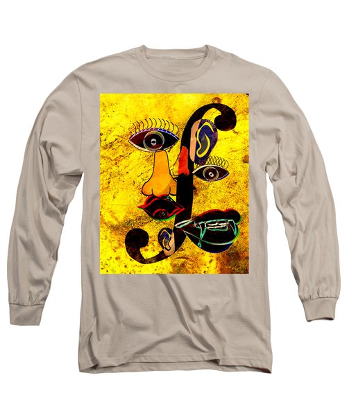 Infected Picasso Long Sleeve T-Shirt by Ally  White