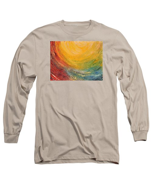 Long Sleeve T-Shirt featuring the painting Infinity by Teresa Wegrzyn