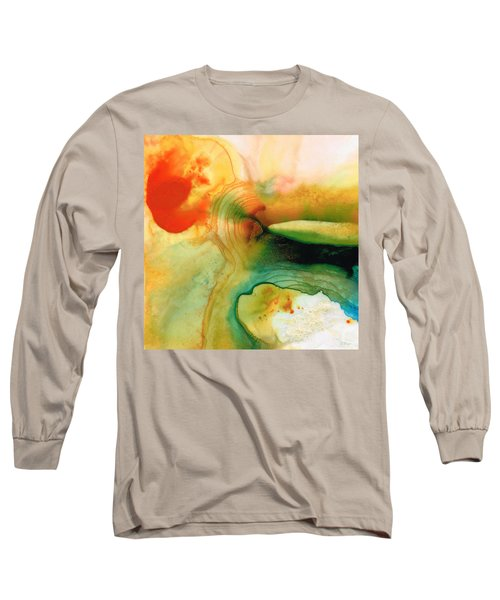 Inner Strength - Abstract Painting By Sharon Cummings Long Sleeve T-Shirt