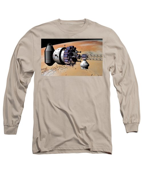 Inspection Over Mars Long Sleeve T-Shirt by David Robinson