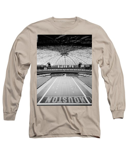 Interior Of The Old Astrodome Long Sleeve T-Shirt