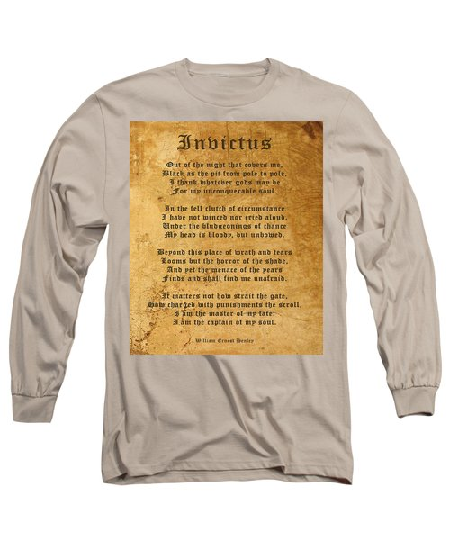 Invictus As A Tribute To Nelson Mandela Long Sleeve T-Shirt
