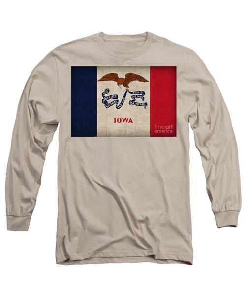 Iowa State Flag Long Sleeve T-Shirt
