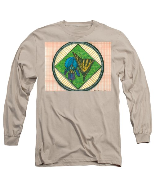 Iris And Butterfly Long Sleeve T-Shirt