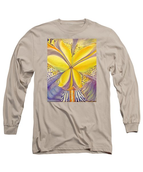 Long Sleeve T-Shirt featuring the drawing Iris by Joshua Morton