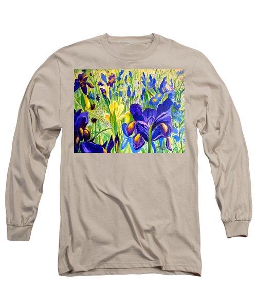 Iris Spring Long Sleeve T-Shirt by Julie Brugh Riffey