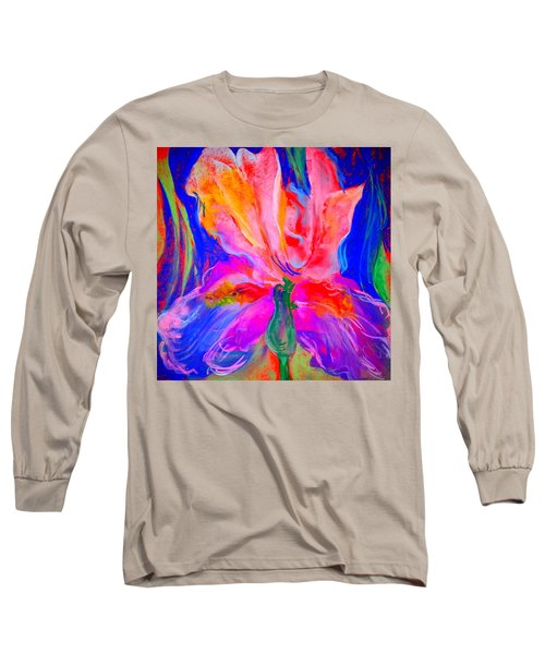 Funky Iris Flower Long Sleeve T-Shirt