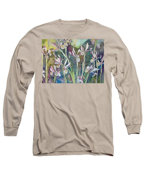 Irises And Doodles Long Sleeve T-Shirt