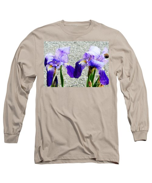 Irises Long Sleeve T-Shirt by Jasna Dragun
