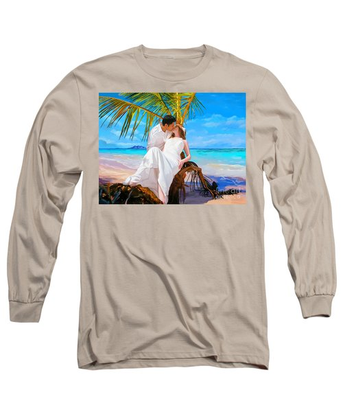 Long Sleeve T-Shirt featuring the painting Island Honeymoon by Tim Gilliland