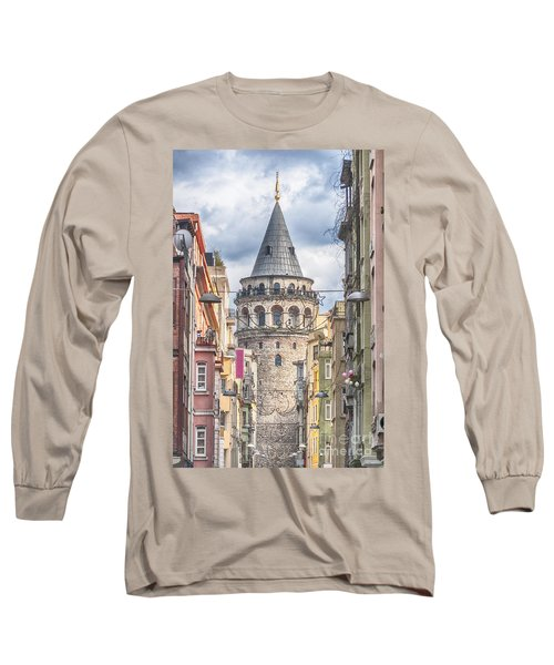 Istanbul Galata Tower Long Sleeve T-Shirt by Antony McAulay