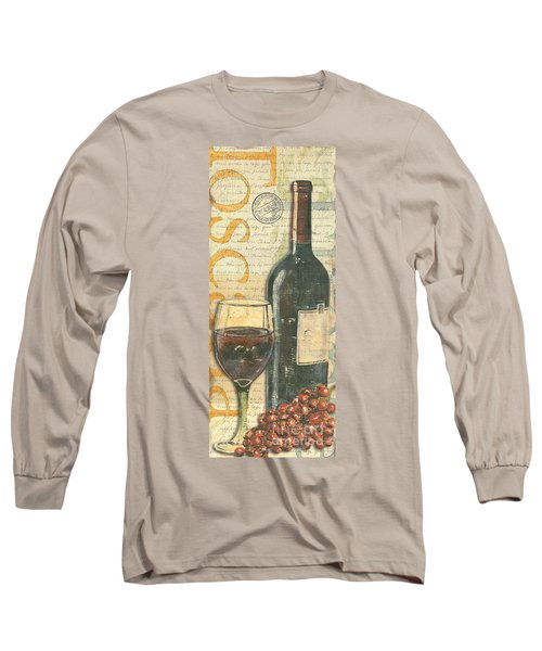 Italian Wine And Grapes Long Sleeve T-Shirt