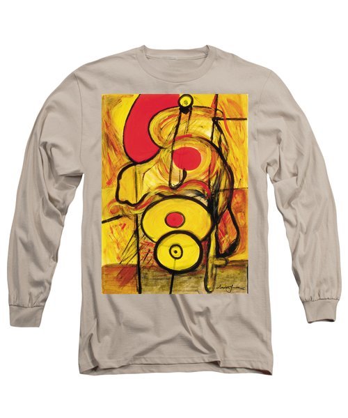 Long Sleeve T-Shirt featuring the painting It's All Relative by Stephen Lucas