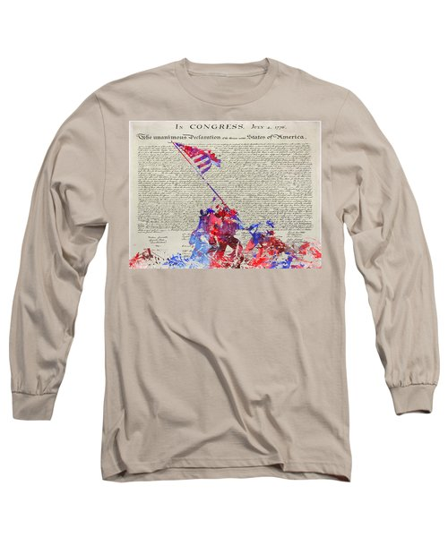 Iwo Jima Declaration Of Freedom Long Sleeve T-Shirt