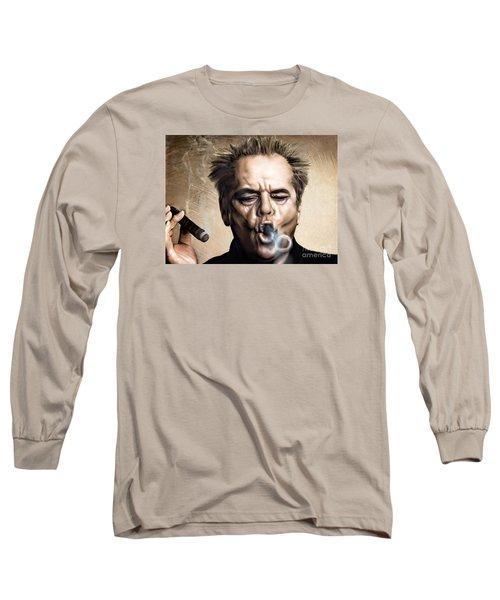 Jack Nicholson Long Sleeve T-Shirt by Andrzej Szczerski