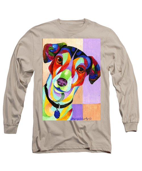 Jack Russell Terrier Long Sleeve T-Shirt by Sherry Shipley