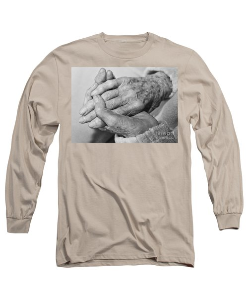 Long Sleeve T-Shirt featuring the photograph Jan's Hands by Roselynne Broussard
